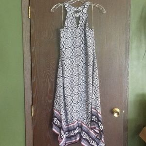 NWT Navy pattern dress size medium